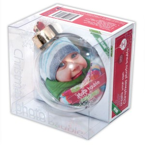 'Create your Own' Christmas Photo Bauble
