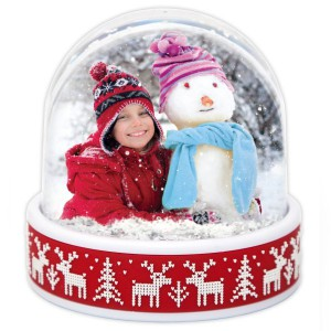 'Create your Own' Christmas Photo Reindeer Snowglobe