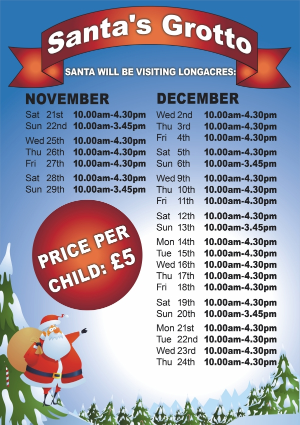 Longacres Bagshot Grotto Opening Times 2015