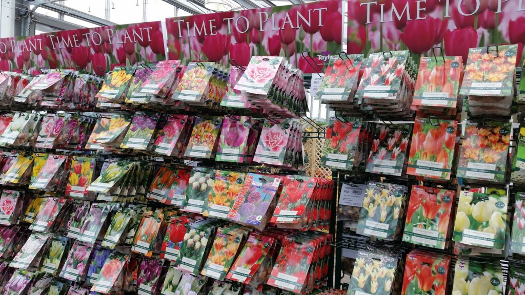 At Longacres you can choose from a wide range of bulbs.