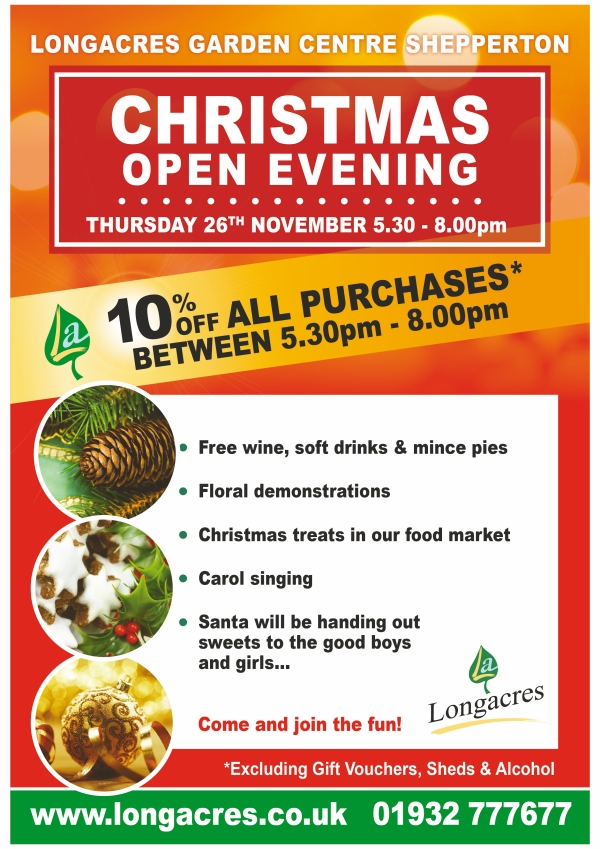 Longacres Shepperton Christmas Open Evening Flyer