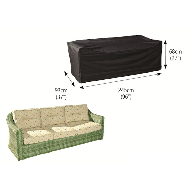 bosmere 3 seater large sofa cover black m690