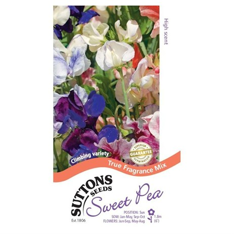 Suttons Sweet Pea Seeds - True Fragrance (134617)