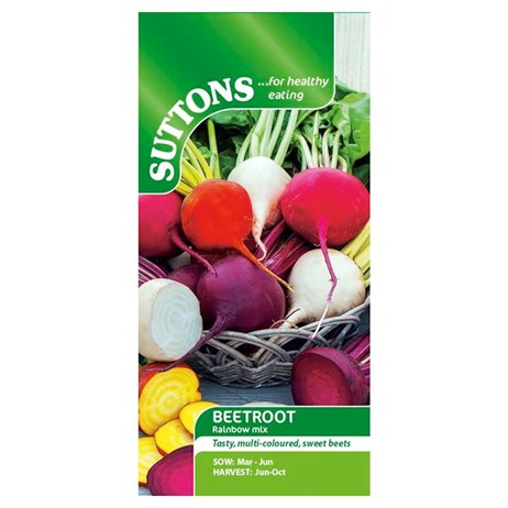 Suttons Beetroot Seeds - Rainbow Mix (151822)