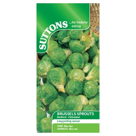 Suttons Brussels Sprout Seeds - Bedford-Fillbasket (153422)