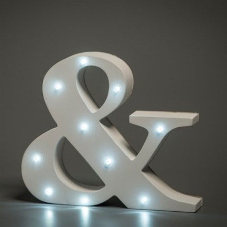 Up in Lights Alphabet Letter Light - Ampersand