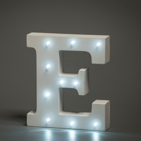 Up in Lights Alphabet Letter Light - E