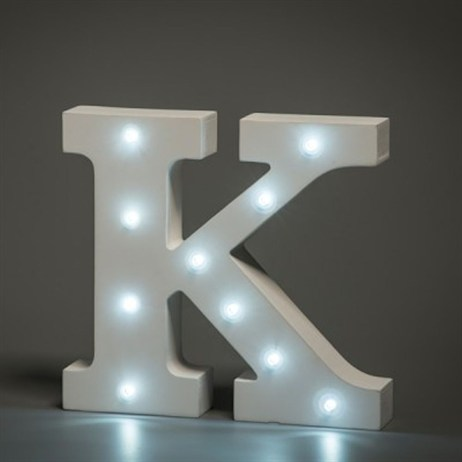 Up in Lights Alphabet Letter Light - K