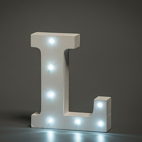 Up in Lights Alphabet Letter Light - L