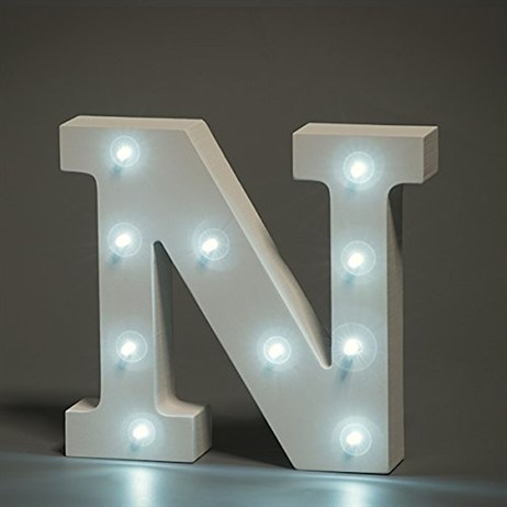 Up in Lights Alphabet Letter Light - N