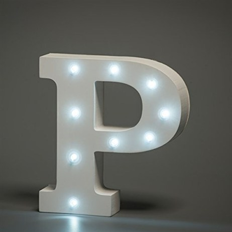 Up in Lights Alphabet Letter Light - P