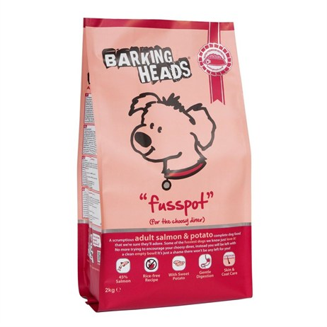 Barking Heads Fusspot Adult Dry Dog Food (Salmon & Potato) 12kg