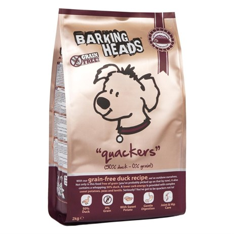 Barking Heads Grain-Free Quackers Dry Dog Food (Duck) 12kg