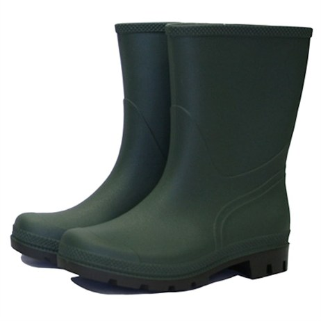 Town and Country Essentials Short Wellington Boots - Green - 12 (TFW837)