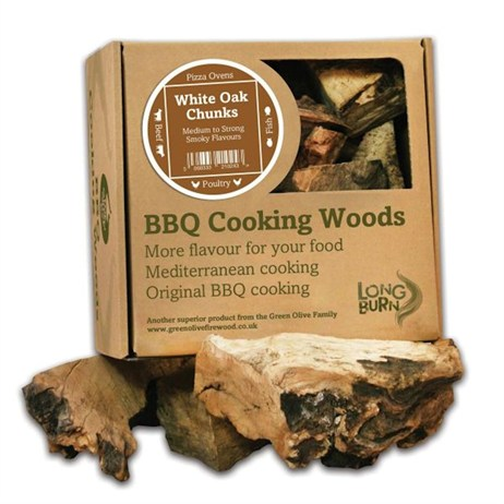 Green Olive Cooking Wood Chunks 5kg - White Oak (FWOWCBTB2.5)