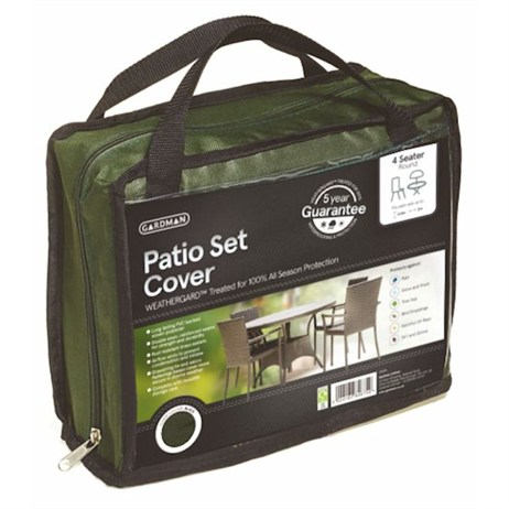 Gardman Premium 4 Seater Round Patio Set Cover - Green (34305)