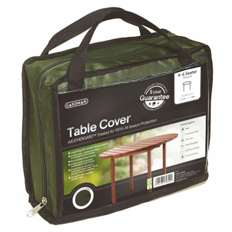 Gardman Premium 4-6 Seater Round Table Cover - Green (34366)