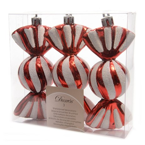 Kaemingk 11.5cm Candy Cane Tree Decorations - Red & White (028975)