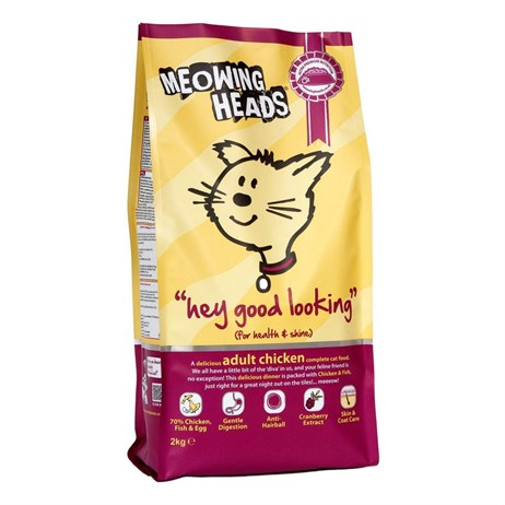 Meowing Heads Hey Good Looking Adult Dry Cat Food (Chicken) 250g