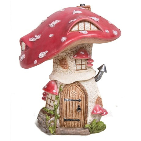 Vivid Miniature World Traditional Red Toadstool Cottage (MW01-004)