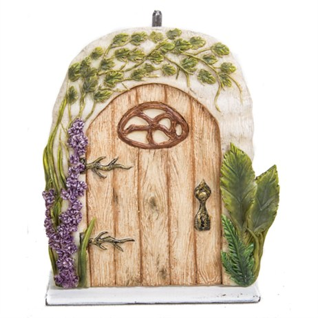 Vivid Miniature World Washed Oak Fairy Door (MW06-005)