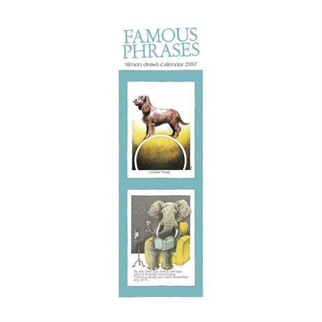 Otter House - Simon Drews Famous Phrases Slim Calendar 2017 (26867)