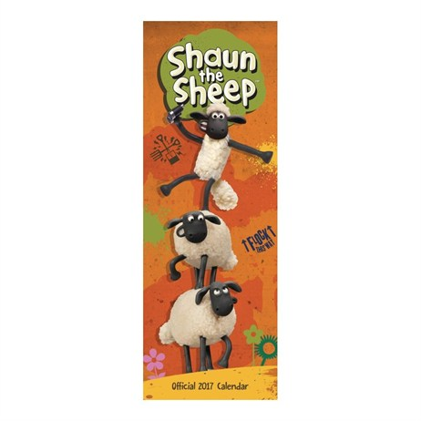 Otter House - Shaun The Sheep Slim Calendar 2017 (26937)