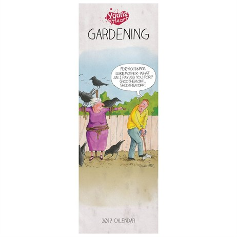 Otter House - Young At Heart Gardening Slim Calendar 2017 (27251)