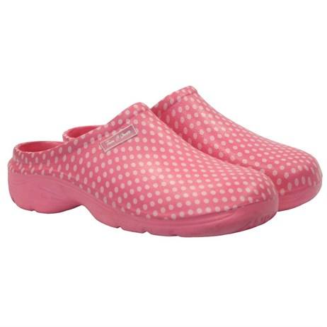 Town and Country Polka Dot Cloggies - Pink - 5 (TFW5202)