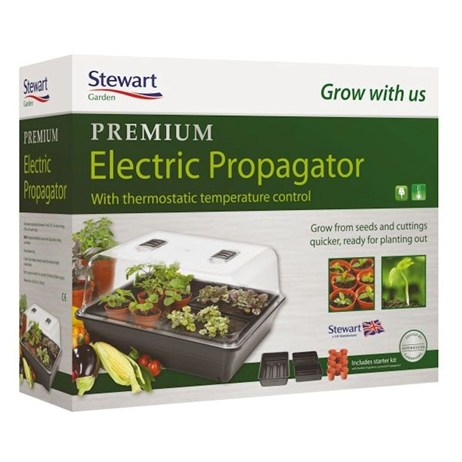 Stewart Garden Thermostatic Control Electric Propagator - 52cm - Black (2598005)