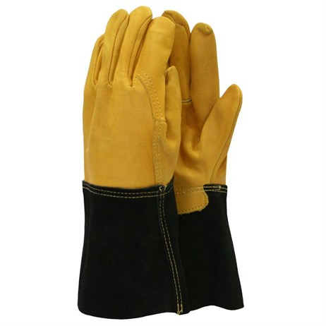 Town and Country Ladies Deluxe Premium Leather Gauntlet Gloves (TGL109M)