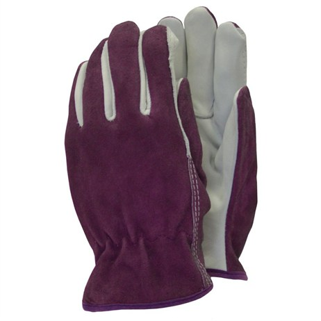 Town and Country Ladies Deluxe Premium Leather and Suede Gloves - Medium (TGL114M)