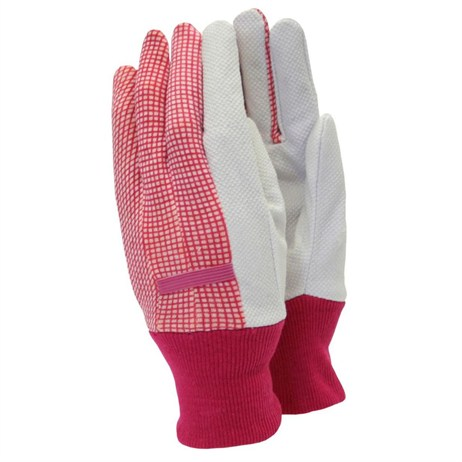 Town and Country Ladies Original Cotton Grip Gloves - Purple (TGL201)
