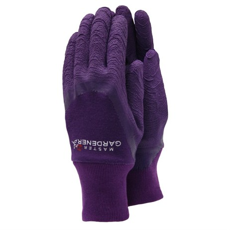 Town and Country Ladies Master Gardener Gloves  - Aubergine - Small (TGL272S)