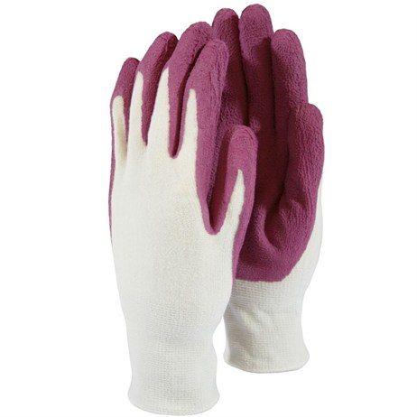Town and Country Ladies Weed Master Bamboo Gloves - Raspberry - Medium (TGL5268)