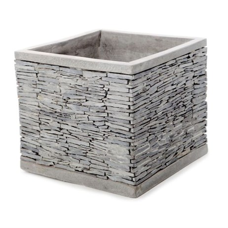 Unique Slate Planter 22 x 20cm - Grey