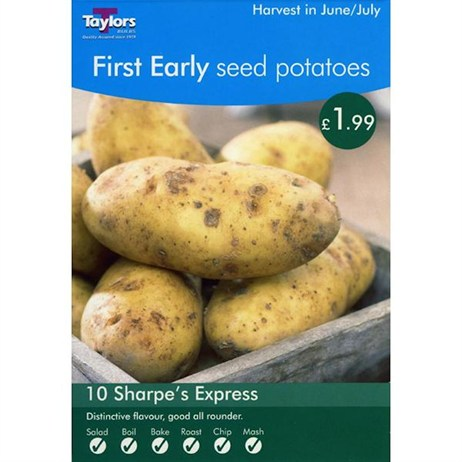 Taylors Bulbs Seed Potatoes Sharpe`S Express (10 Pack) (VP430)