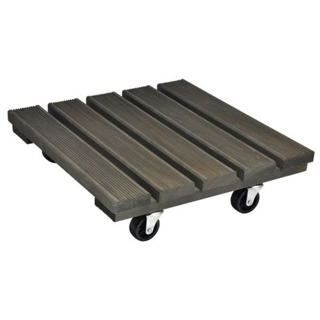 Wagner Vintage 380 x 380mm Square Pine Plant Trolley (20086201)