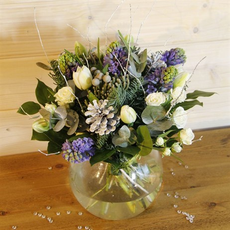 Christmas Winter Scented Hand Tied Bouquet
