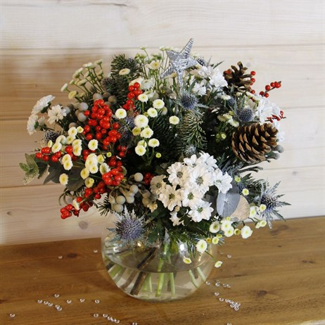 Christmas Wish Upon a Star Hand Tied Arrangement