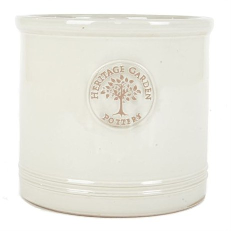 Woodlodge Edwardian Cylinder Pot No.2 - White (YECYLW2)