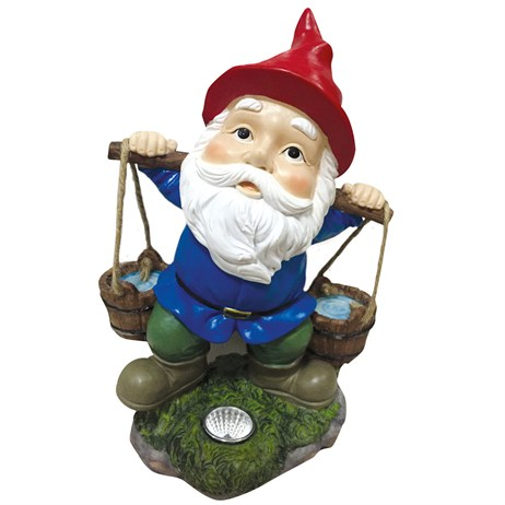 Cole & Bright Solar Garden Gnome Water Pail Light (L25117)