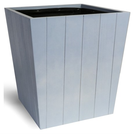 Direct Dispatch Ivyline Hardwood Tapered Planter Coastal Blue 37Cm (WTPCB37)