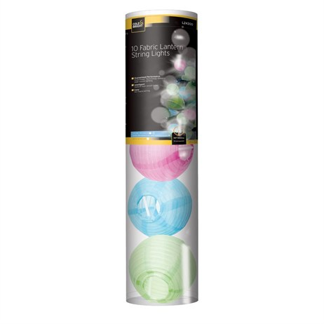 Gardman 10 Fabric Lantern String Lights (L24300)