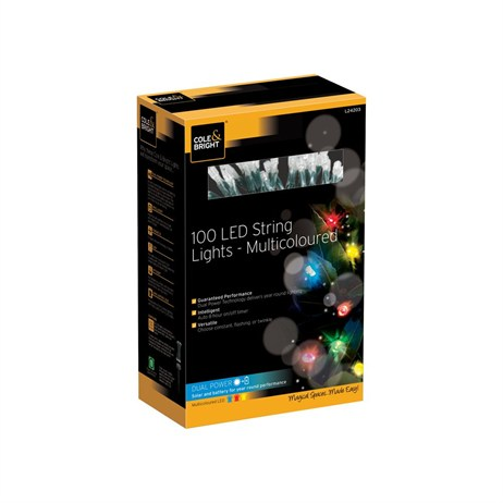 Gardman 100 Led String Lights - Multi-Coloured (L24203)