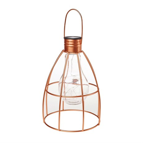 Gardman Caged Lightbulb Lantern Copper - Large (L23005)