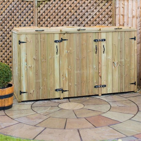 Wheelie Bin Screen Triple Chest 140L
