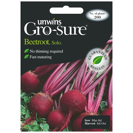 Unwins Seeds Beetroot Solo F1 (30310429)