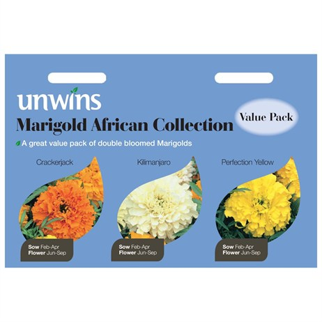 Unwins Seeds Marigold African 3 In 1 Collection (30210563)