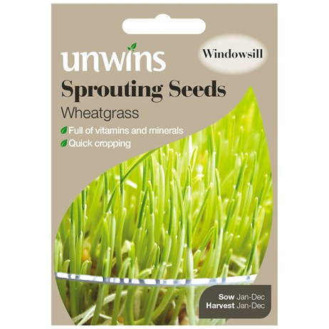 Unwins Seeds Sprouting Seeds Wheatgrass (30310217)